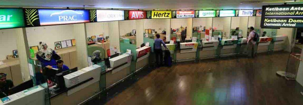 Penang Van Rental with Driver Service Counters at Penang International Airport