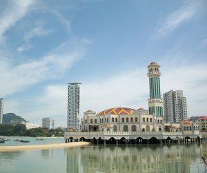 penang van rental - penang floating mosque (8)